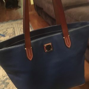 Handbags - Blue Dooney & Bourke large purse with wristlet.